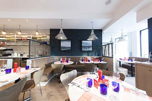 Pizza Express Seating Screens