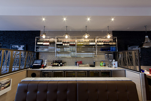 Pizza Express Wall panelling/Till Points