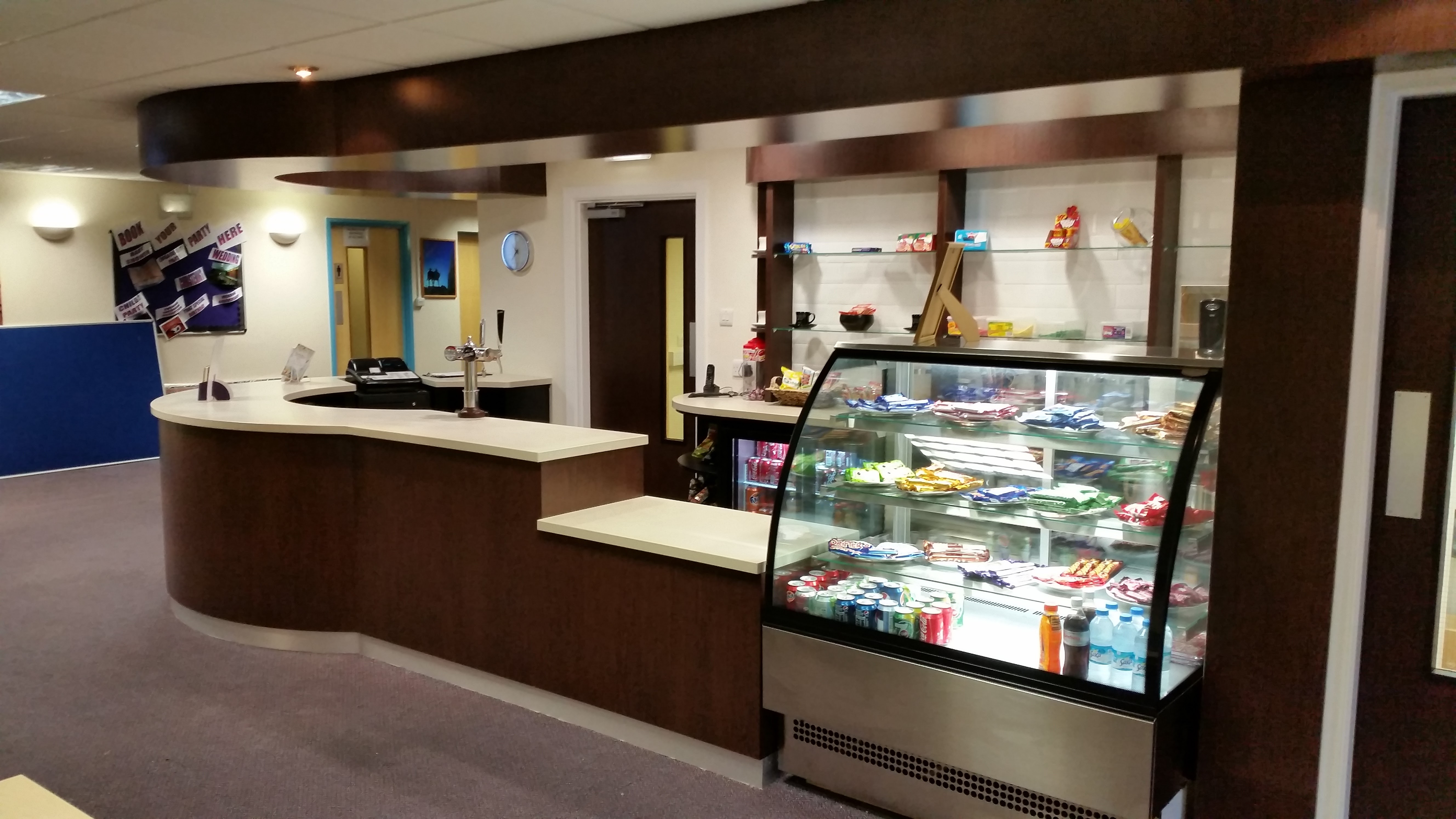 Shop Counter With Solid Surface Worktop For Primerose